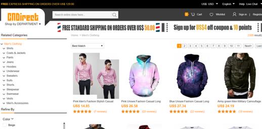 التسوق من موقع cn direct بالصور